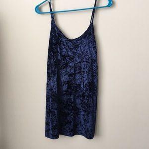 Hollister Velvet Blue Strappy Dress